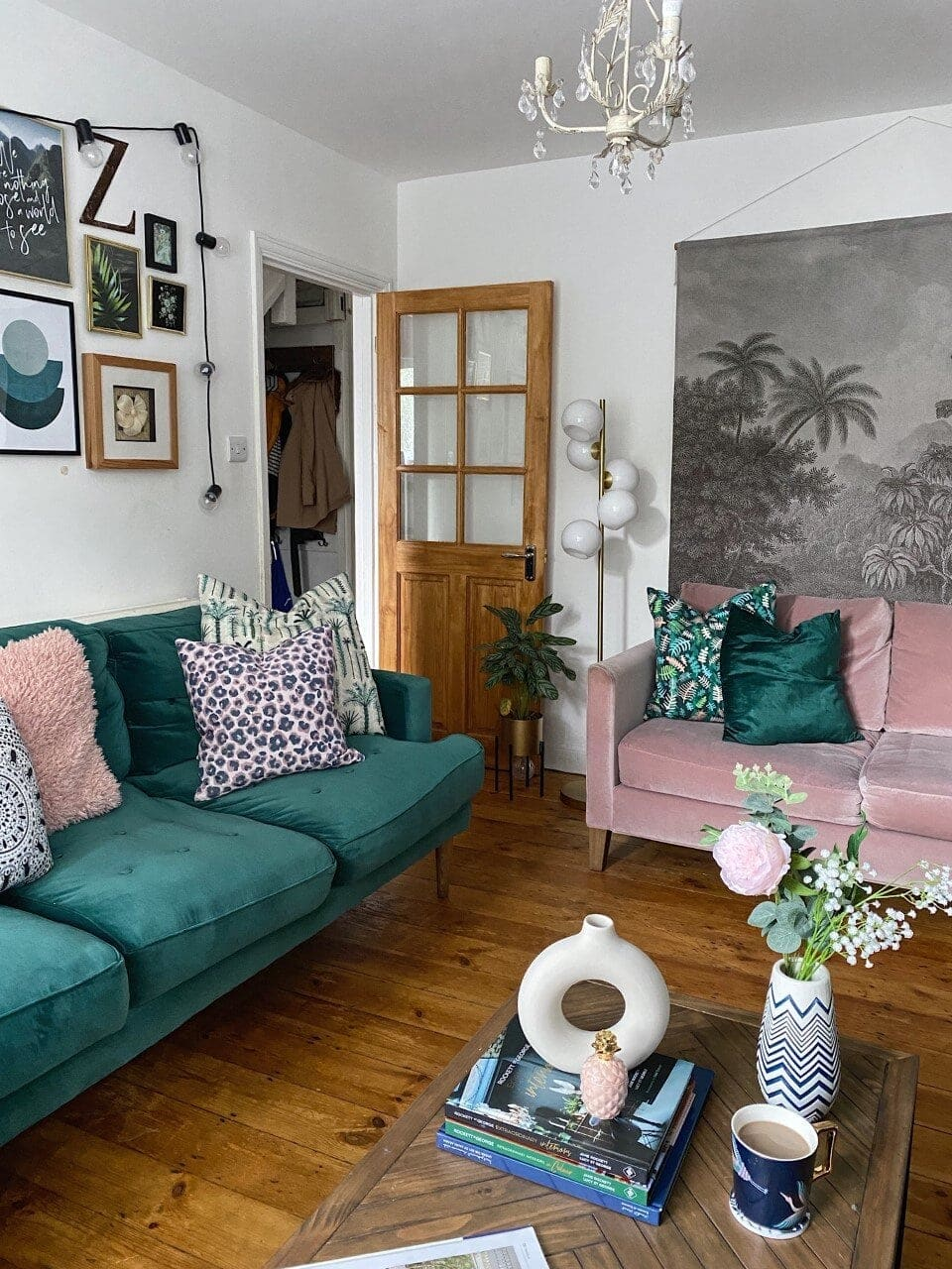 green pink colour decor trends interiors home decoration gold blogger designer design room