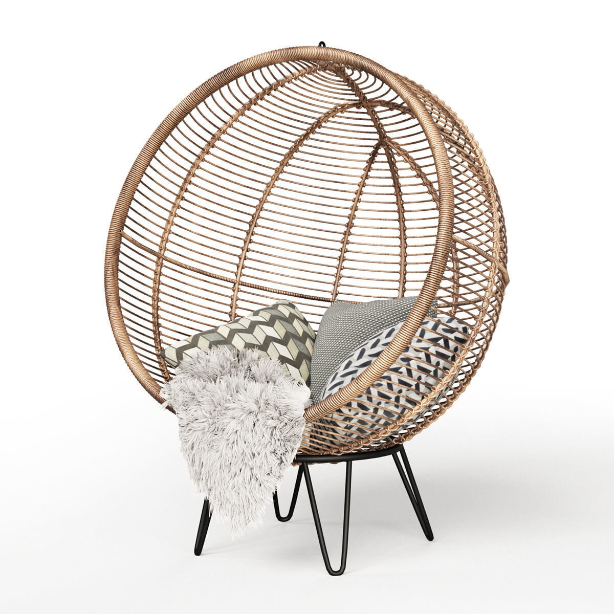 A real statement piece of furniture for any home!  Round Rattan Cocoon Chair - Cox & Cox