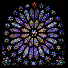 The_north_transept_rose_window_at_St-Denis
