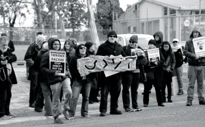 Protest at Broadmeadows