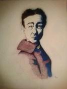 Simone de Beauvoir, 2013 Watercolor, ink on paper 8x10