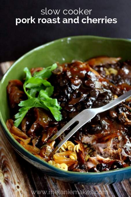 Slow Cooker Pork Roast and Cherries | Melanie Makes