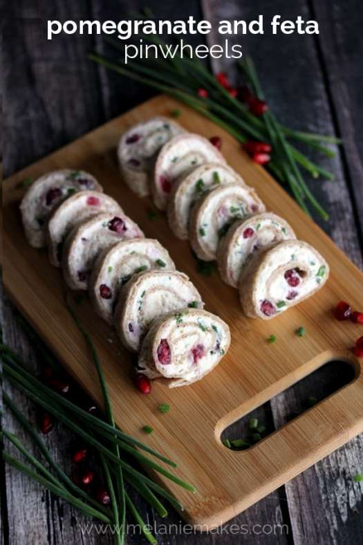 Pomegranate and Feta Pinwheels | Melanie Makes