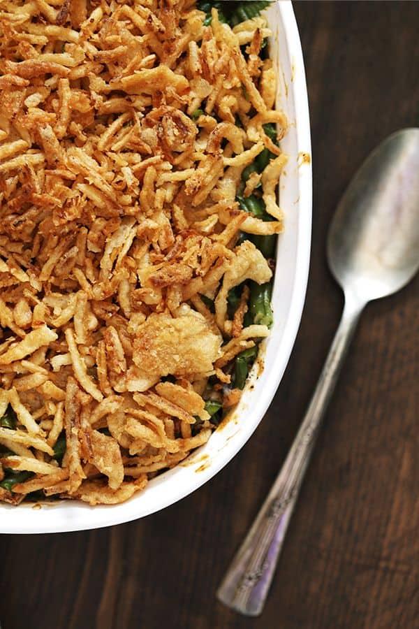 Twice The Onion Green Bean Casserole Melanie Makes