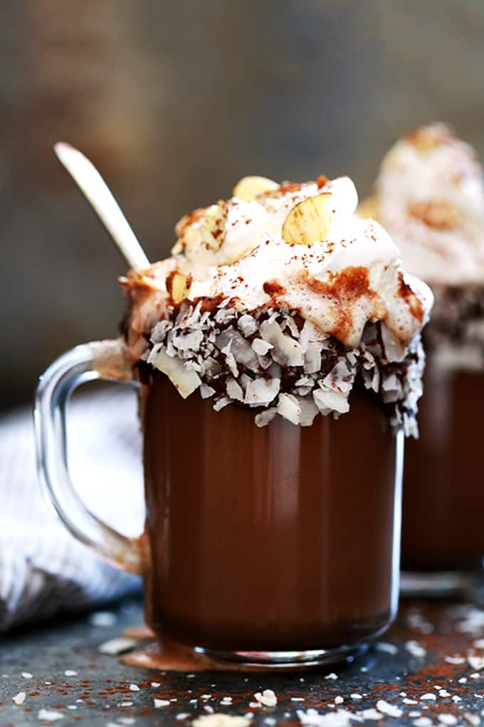 Slow Cooker Almond Joy Hot Chocolate Melanie Makes