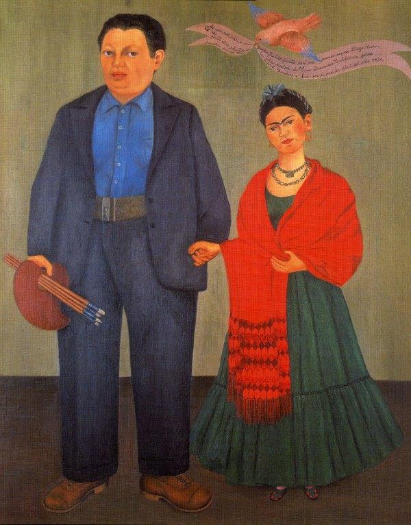 Frida Kahlo and Diego Rivera Painting