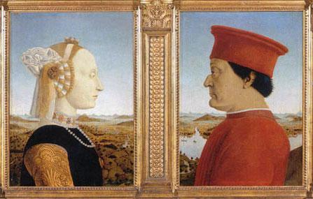 Piero della Francesca, Federico da Montefeltro with his wife Battista Sforza, 1472, The Uffizzi Gallery, Florence