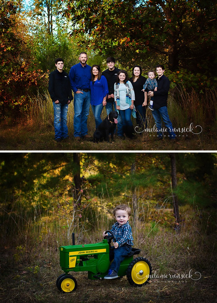Melanie Runsick Photography Fall Family Session with John Deere Tractor