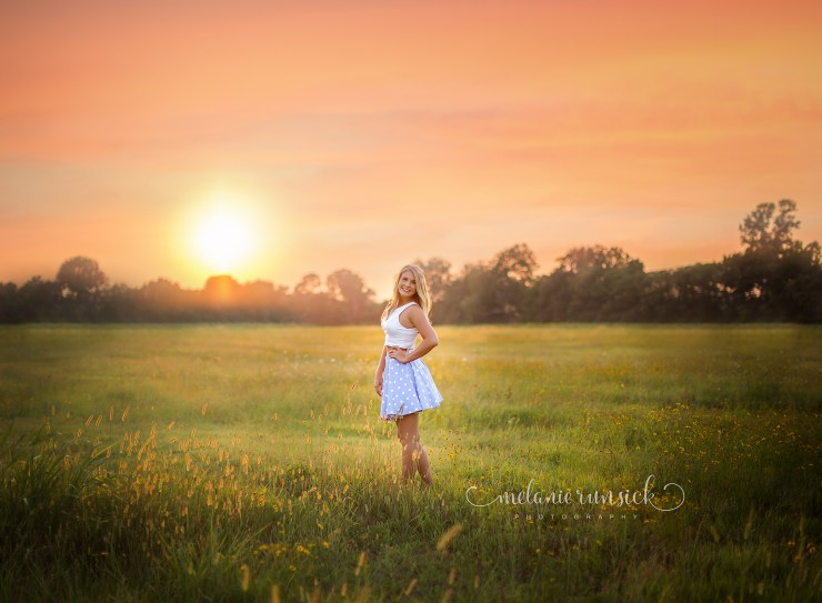 Jonesboro Senior Photographer Melanie Runsick Sunset Session