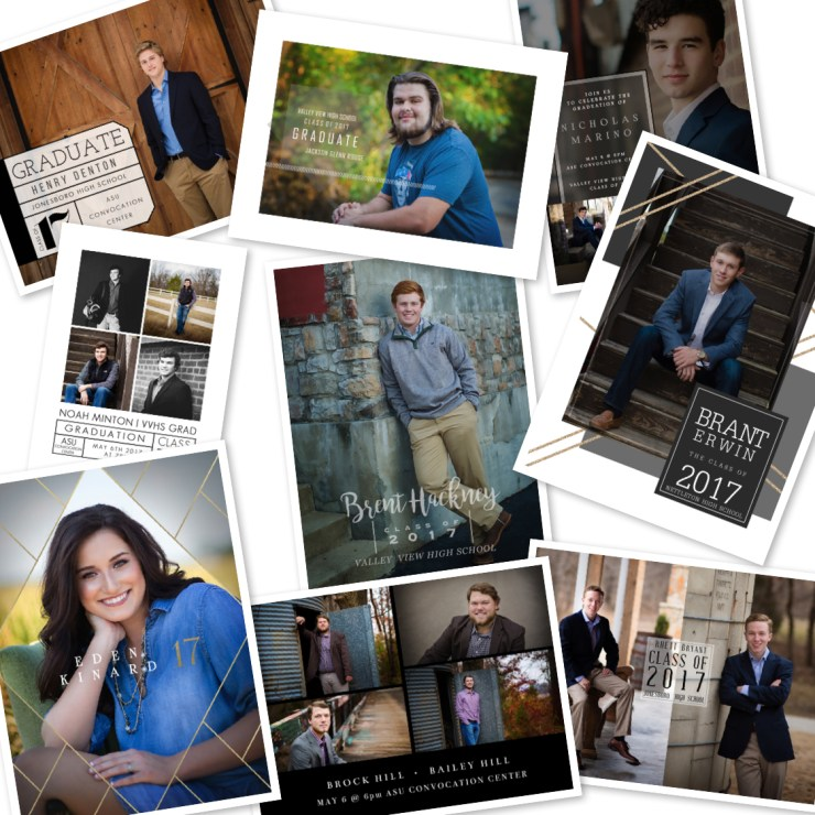 Melanie Runsick Photography Jonesboro Senior Photography Graduation invitations Class of 2018