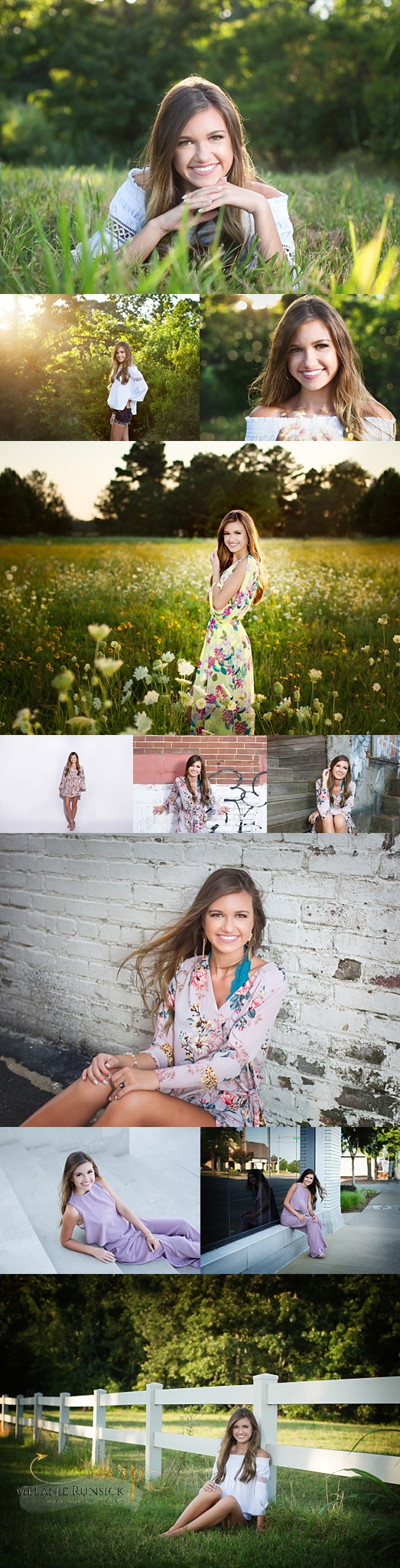 Melanie Runsick Photography Rivercrest Senior Photographer Jonesboro Ar