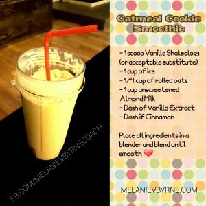 Vanilla Shakeology with Oats and Almond Milk