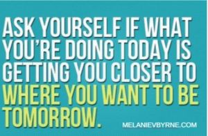What's the ONE thing you can STOP doing and ONE thing you can START doing to get you closer to your goals?!