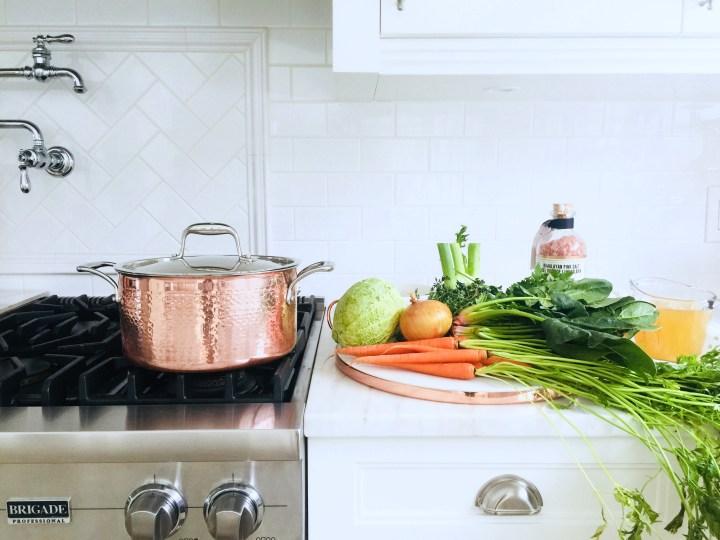 Savoy Cabbage & fennel soup