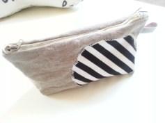 Mel.Anni's handmade Kosmetiktäschchen black&white stripes