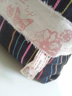 Mel.Anni's handmade Kosmetiktäschchen stripes & butterfly