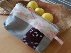 Mel.Anni's handmade Kosmetiktäschchen grey butterfly bird