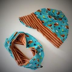 Mel.Anni's handmade Wendeloop und Schirmmütze