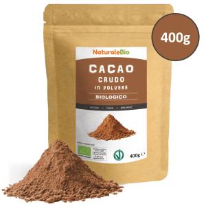 cacao_crudo_biologico_in_polvere - Cacao-in-polvere-Busta-con-bollino-e-polvere-400g-Fronte.png
