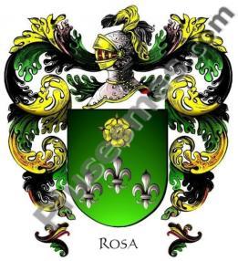 Escudo de Armas del apellido Rosa