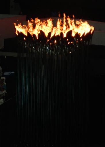 Olympic Flame burning brightly