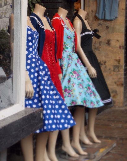 Quirky fashion, love the 50's dresses