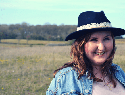 Mel spring style with fedora hat