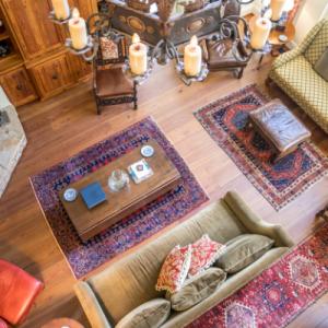 Bohemian interior rug