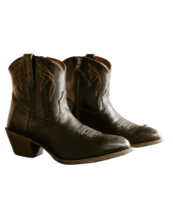 Black cowboy western boots ankle boots