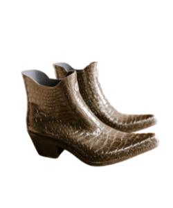 Ankle boot cowboy boot brown