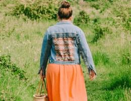 Western denim jacket, fringe jacket boho style festival fashion
