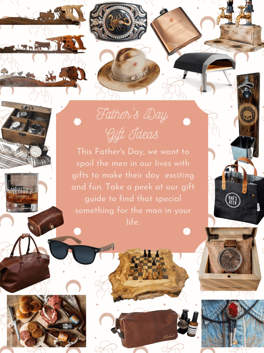 Father's Day gift ideas rustic and western style