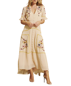 Hope & Ivy Madeline Floral Western Midi Dress from Melbelle