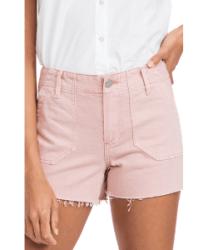 Pink utility shorts denim shorts boho style festival fashion by Paige via Shopbop