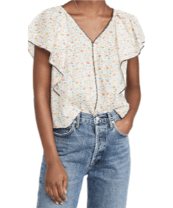 The Great. Whip stitched flouncy top Shopbop