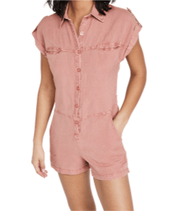 Blush pink romper by Young & Fabulous from Shopbop