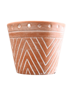 Aztec Terracotta Plant Pot   Aztec home   Western Home   Boho Home   Tribal Decor