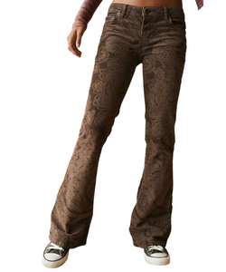 BDG Brooke Chocolate Paisley Print Flare Jeans