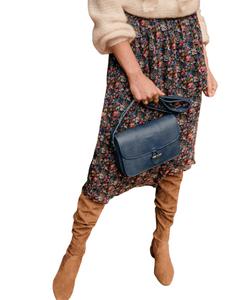 Sezane Flowing midi skirt. MARIA SKIRT English countryside.
