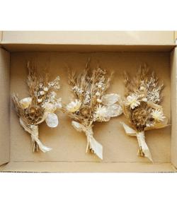Dried Floral Luxe Boutonniere | Evermore Dried Florals | Bohemian Premium Buttonhole Wedding Wear 1 piece