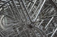 """Spokes in """"Forever Bicycles"""" by Ai Weiwei - photo by @baudman"""