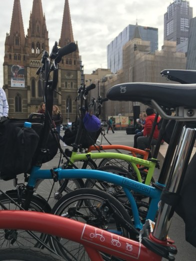 Bromptons at Fed Square