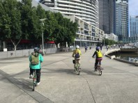 There is plenty of space to share along the riverfront at Docklands