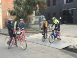 Gosh he was game to ride a share bike - #MelburnRoobaix #Melbourne #Brompton Club