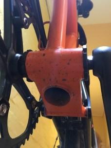Dirty bottom bracket and tube
