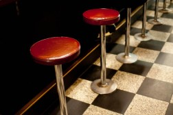 Pellegrini's Espresso Bar, Bourke st. 1955. totally intact down to the stools