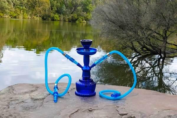 2-Hose-Blue-Shisha-pipe