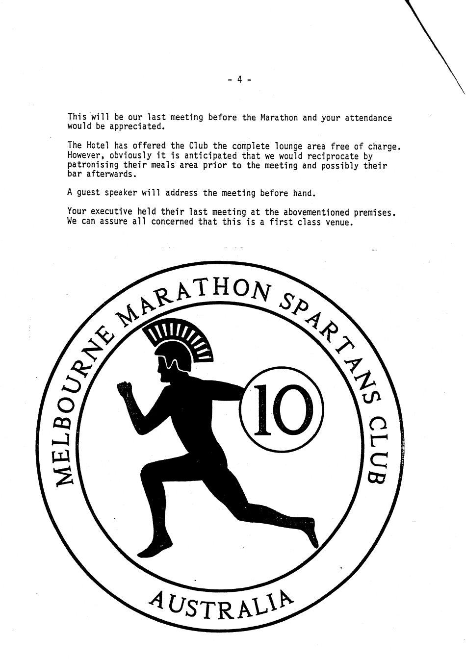 Newsletter No 3, June 1990 « Melbourne Marathon Spartans