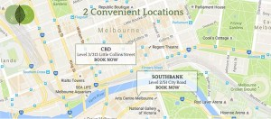 remedial massage melbourne mobile map