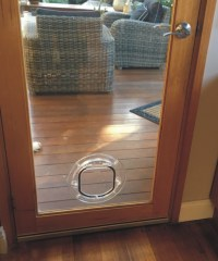 Small Dog Door For Glass - Supplied & Installed ...